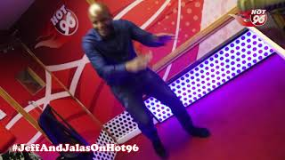 Jalango Dancing to Kaka's latest track in Studio