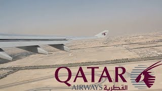 Qatar Airways Airbus A330-300 take off in Doha, 29.07.2017