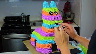 Candy-Filled Donkey Pinata Cake I CHELSWEETS