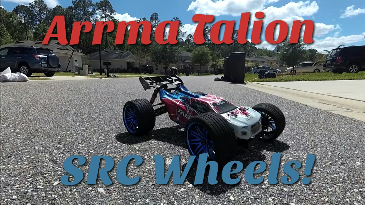 Arrma Talion with SRC Belted road wheels!!