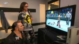 Matt Hardy playing SD vs Raw