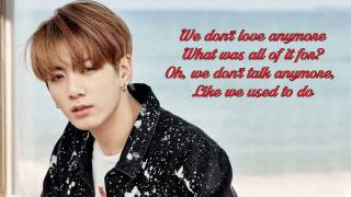 Duet with Jungkook (Karaoke) - We Don't Talk Anymore Instrumental + Lyrics