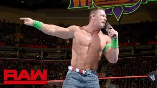 John Cena's unfiltered rant on The Undertaker: Raw, March 26, 2018