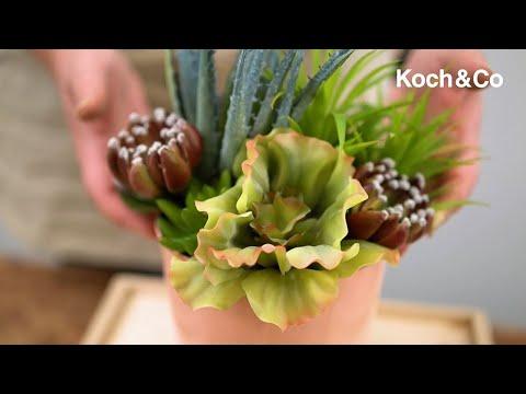 Artificial Succulent Echeveria Red Green (12x15cmH)
