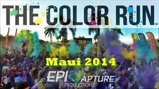 The Color Run Maui 2014 ~ The Happiest 5k on the Planet