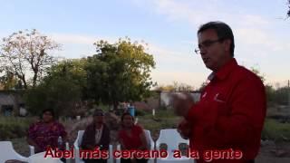 """Abel Murrieta con la gente del Km 9 """"El Pueblito"""" en Cajeme"""