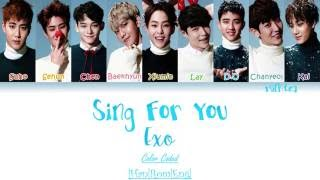 EXO – Sing For You (Korean Ver) Lyrics Color Coded [Han|Rom|Eng]