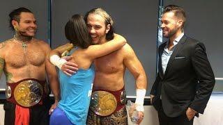 Bayley le pide un abrazo a The Hardy Boyz en Stuttgart