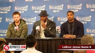LeBron James después de eliminar a los Bulls