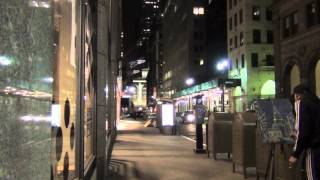 New York Midnight Walk in Midtown