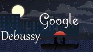 Amazing Claude Debussy Google Doodle