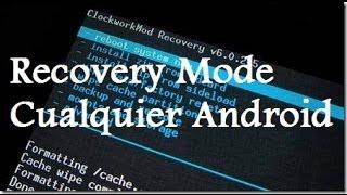 Instalar Recovery Mode (avanzado) cualquier android // Tu Android Personal