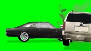 Car Crash FX Effect with sound - green screen