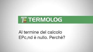 Al termine del calcolo EPc,nd è nullo. Perchè?