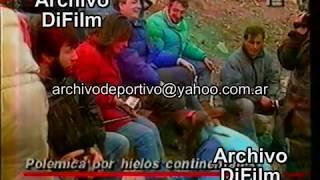 Nestor Kirchner - polemica por los Hielos Continentales Santa Cruz - DiFilm (1992)