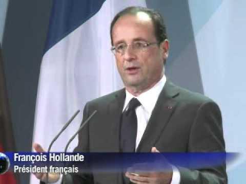 Merkel et Hollande affichent l'union face à la crise grecque