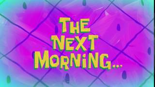 The Next Morning... | SpongeBob Time Card #139