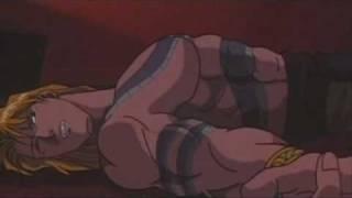Chun-Li fights Vega (SFII Animated 1994) width=