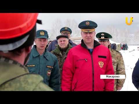 Республиканские учения по тушению лесных пожаров в Макаровском лесничестве