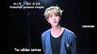 [BTS] JIN (Cover)– I Love You (난 너를 사랑해) Sub Español (Hangul - Rom)
