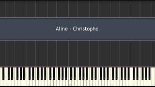 Aline - (Richard Clayderman) Christophe (Piano Tutorial)