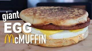 DIY GIANT EGG McMUFFIN width=
