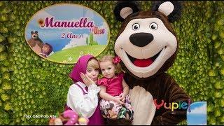 Manuella - 2 Anos | Tema Masha e o Urso | Filmagem de Aniversário Infantil | Yupie! Filmes