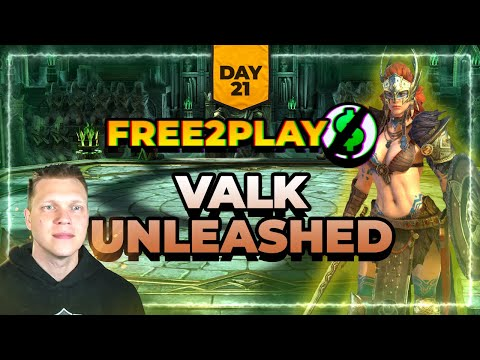 f2p Day 21 | VALKYRIE UNLEASHED! | RAID Shadow Legends
