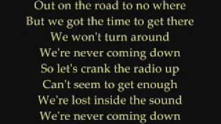 Faber Drive - Never Coming Down Lyrics