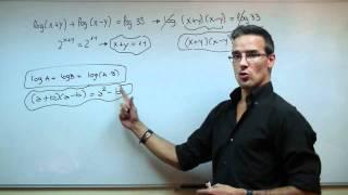 Imagen en miniatura para Sistema de ecuaciones logarítmicas