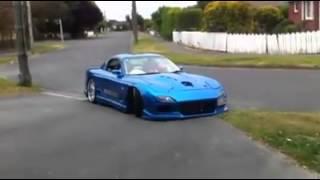 Mazda Rx7 burnout