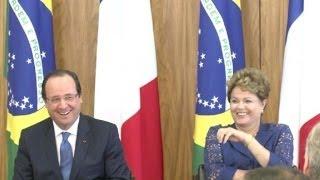Dilma e Hollande rivalizam sobre futebol