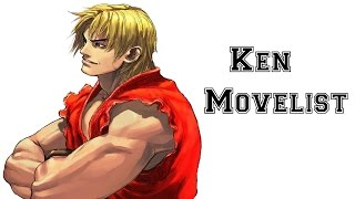 Street Fighter III: 3rd Strike - Ken Move List