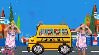 FUNNY WHEELS ON THE BUS REMIX NURSERY RHYMES
