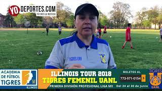 Las Campeonas Tigres Femenil UANL Vienen a Chicago
