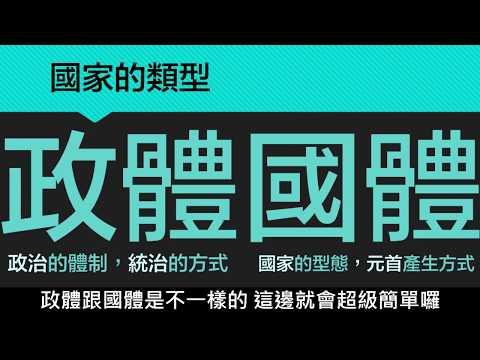 【八上公民】【觀念】國家的類型:國體與政體 - YouTube