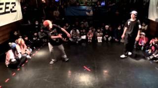 ¥(がんばれレッドピッキーズ) vs イッキ(DANCE GAMBA) DANCE@LIVE 2014 KIDS KYUSHU CLIMAX【QUARTERFINAL】