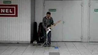 house of the rising sun cover, crazy street performer in frankfurt am main