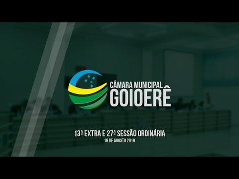Vídeo na íntegra da Sessão Ordinária da Câmara Municipal de Goioerê dessa segunda-feira, 19
