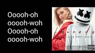 Marshmellow & Anne-Marie - FRIENDS (Lyrics Video)