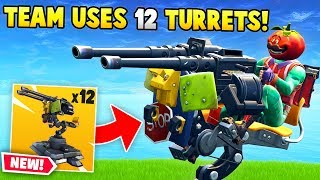 *NEW* Team uses 12 MOUNTED TURRETS! (Fortnite FAILS & Funny Moments #29)