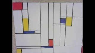 How to make a Mondrian inspired collage with 1st grade
