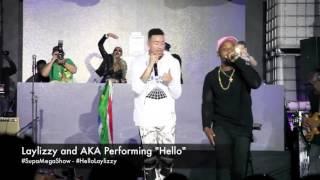 "Laylizzy and AKA perform ""Hello"" at The Supa Maga Show"