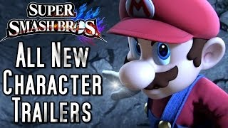 Super Smash Bros ALL New Character Trailers