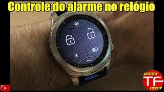 Controle do alarme do seu carro no relógio smartwatch.