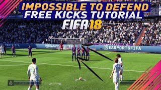 FIFA 18 IMPOSSIBLE TO DEFEND FREE KICK TUTORIAL - UNSAVEABLE FREE KICK TECHNIQUE - SPECIAL TRICK