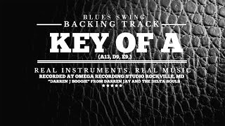 Guitar Backing Track - Blues Swing in Key of A