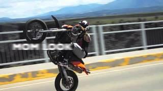 KTM 450 EXC-R STUNT RIDING