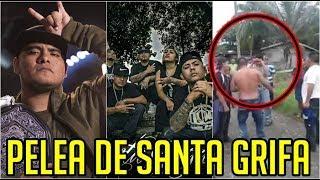 ¿ Aczino ataca a Santa Grifa ? | P3L34 DE SANTA GRIFA EN EVENTO | MUSICRAPHOOD