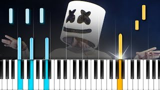 "Marshmello - ""Fly"" Piano Tutorial - Chords - How To Play - Cover"